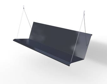 Westdale Modern Porch Swing - Powder Coated RAL 7021 Black Grey - Stainless Steel FREE SHIPPING