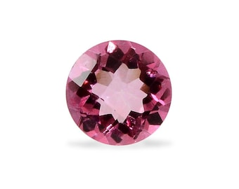 Mystic Pink Topaz Round Cut Loose Gemstone 1A Quality 6mm TGW 0.90 cts.