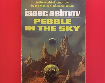 Vintage Science Fiction Novel Pebble in the Sky by Isaac Asimov 1950s Mid Century Sci Fi Fantasy Paperback Book