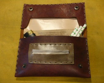 Rustic Style Handmade Leather Tobacco Pouch
