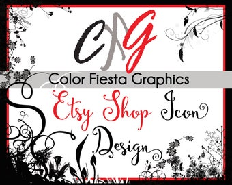 Custom Etsy shop icon image design -  plus a round of UNLIMITED complimentary edits