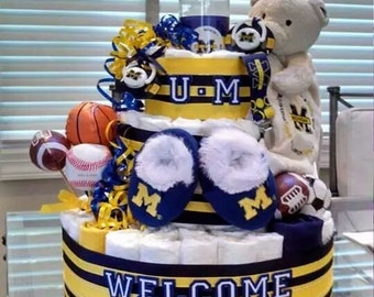 Sports Diaper Cake, Sport Themed Diaper Cake,