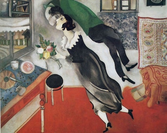The Birthday by Marc Chagall, in various sizes, Giclee Canvas Print