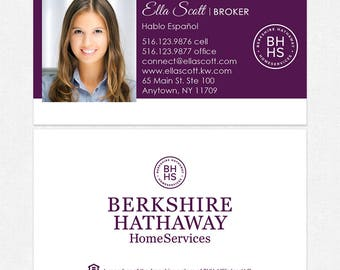 Berkshire hathaway etsy berkshire hathaway real estate deluxe business cards thick color both sides free ups colourmoves
