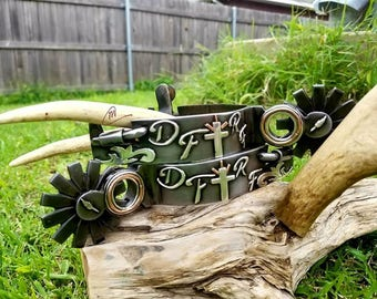 Custom handmade western spurs (contact me before order. This is base price listing)