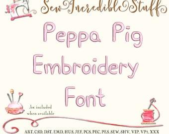 Peppa Pig Machine Embroidery font