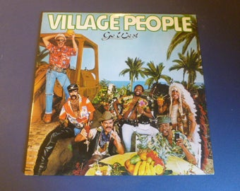 Village People Go West Vinyl Record LP NFLP 7144 With 6 Picture Fold Out Casablanca Record 1979