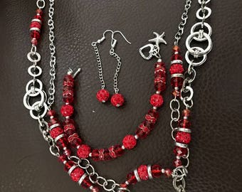 Bright and bold necklace set