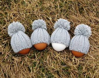 Knit egg warmers easter egg cozy easter table decor easter decoration knit egg hat set egg hats easter party favors knit egg covers