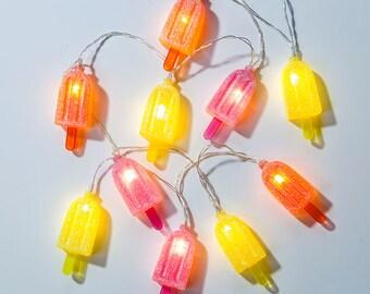 1 light-up ice cream garland - Ice cream LED ligths