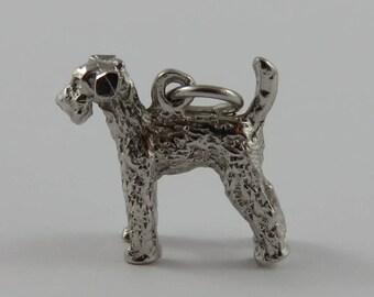 Terrier Dog Sterling Silver Vintage Charm For Bracelet