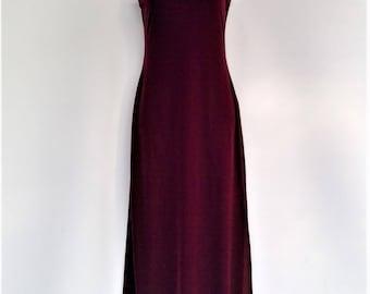Vintage Velvet Full Length Dress - Ladies Small