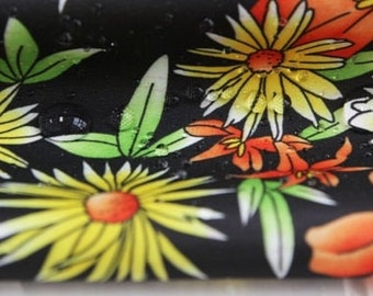 """Waterproof fabric by the yard Lovely floral pattern_Vintage Design 59"""" SAM 8169"""