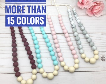 Teething Necklace   Silicone Teething Necklace   Nursing Necklace   New Mom Gift   Chewlery   Teething Necklace for Mom   Gummy Chic Teether