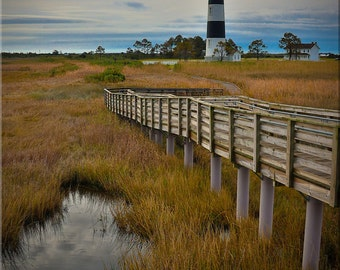 Bodie Lighthouse, OBX, Outer Banks, Marsh, North Carolina, Lighthouse