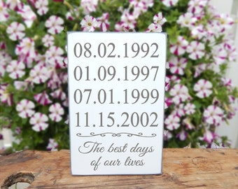Important Date Sign - picture collage -  5 year anniversary - Dates Sign -  Special Dates Sign -  5th Anniversary Gift - Birthday plaque