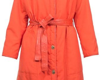 Vintage Bonnie Cashin faux orange coat 60s