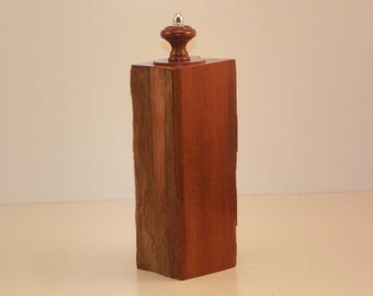 """driftwood scatter urn in western red cedar the gloss on this is amazing 10"""" x 3.5"""" x 3"""" capacity 18 cu in."""