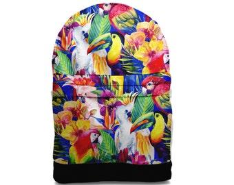 SALE! Tropical parrot backpack bag