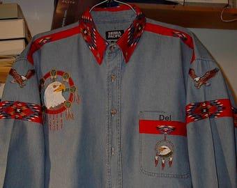 Eagle/eagle feather native american shirt