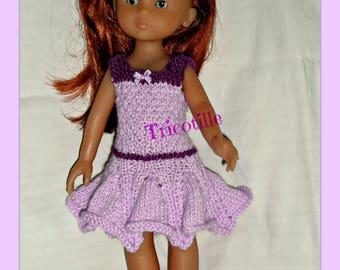 Mauve and purple ruffle dress for sweethearts