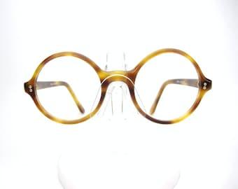 Vintage Round 60s Tortoise Glasses Eyeglasses Sunglasses Frame France NOS
