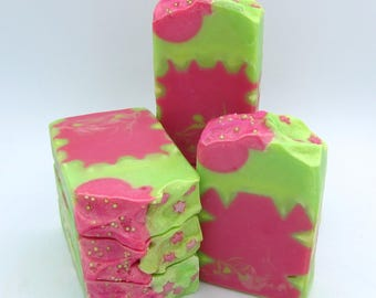 Hot Pink Lime soap/artisan soap/handmade soap/luxury soap/hand made soap/gift for girl soap/homemade soap/citrus soap/Owl Natural Soaps