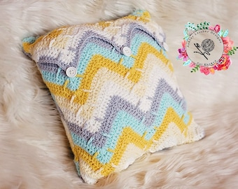 Crochet Pattern Mountain Peak Pillow - PDF - Instant Digital Download