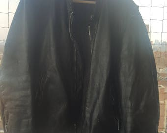Vintage Leather Motorcycle Jacket.