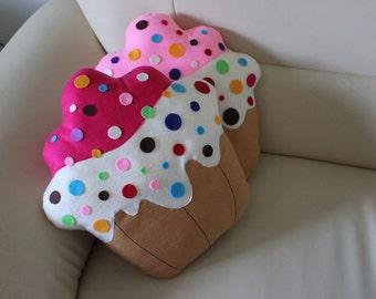 Handmade pillow shaped cupcake 40 cm