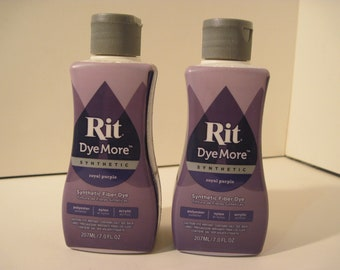 Lot of 2 bottles Rit Dye More PARTIALLY USED royal purple Liquid type Synthetic Fiber formula art craft tie-dye supply Lot G