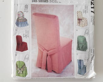 Sewing Pattern For Chair Covers Ruffled Contemporary Classic Tie Back  Windsor Ladder Back Folding And Parsons Chairs McCalls 3217