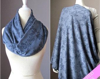 Nursing cover scarf, nursing cover, nursing scarf, grey scarf, breastfeeding cover, nursing infinity scarf, nursing cover up