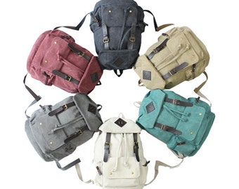 Rainbow Canvas Backpack