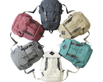 Rainbow Canvas Backpack