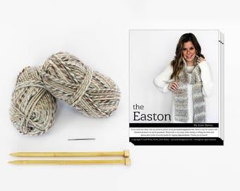 Knitting Kit, DIY KIT, Knit Scarf Kit, Choose Your Color
