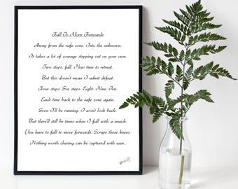 Motivational Rhyming Poem A4 Poster Print