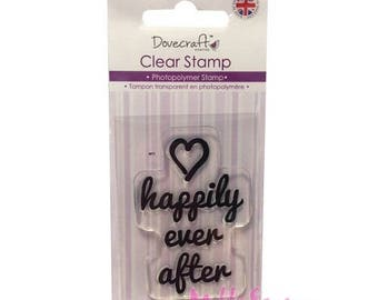 """Dovecraft """"Happily ever after"""" clear stamp embellishment scrapbooking card making (ref.110) *."""