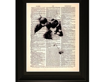 "Childhood"".Dictionary Art Print. Vintage Upcycled Antique Book Page. Fits 8""x10"" frame"