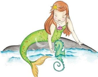 Come Play Little Mermaid Giclee Print