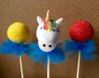 12 UNICORN Cake Pops , Unicorn Birthday Party