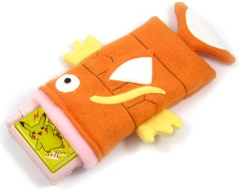 JULY PREORDER 3ds XL Case / Custom Size Pokemon Magikarp pouch carrying case new 3ds / 3ds xl / nintendo switch / psp vita holder cozy