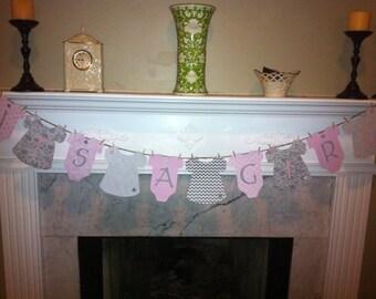 Baby shower Onesie Banner