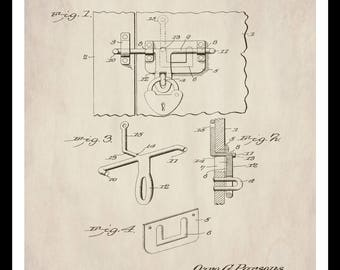 Mechanical blueprint etsy instant download patent print barn door hardware farmhouse decor home farm malvernweather Gallery