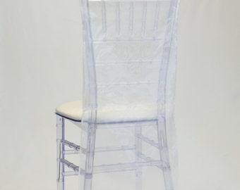 White Organza Chiavari Chair Cover