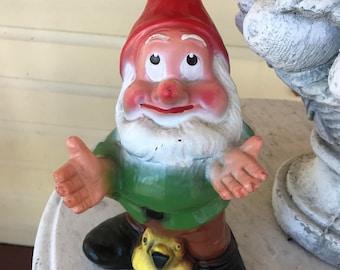 Hard plastic gnome or dwarf
