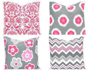 Euro Sham Pillow Covers - Throw Pillow Cover - Decorative Pillow - Pink Pillow Cover - Bedroom Pillows - Chevron Pillow Cover - Pink Chevron
