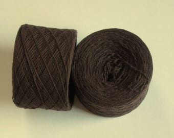 DARK CHOCOLATE  Wool Cashmere 1540 yards recycled yarn