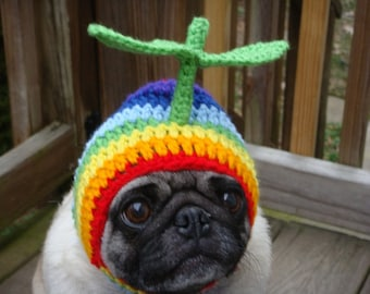 Rainbow Propeller Dog Hat / Made to Order