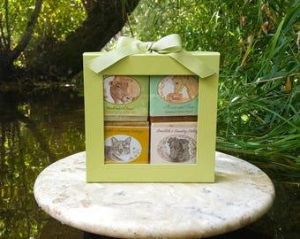 """Soap - """"Farm Animal Gift Soap,"""" Cold Process, Animal Soap, Horse, Cow, Dog, Cat, Handmade Soap, Handcrafted Soap, Gift Soap"""